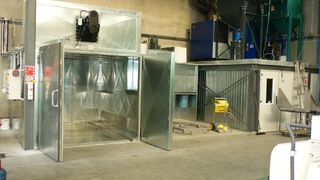 Hansa Chippers M4 oven and spraywall